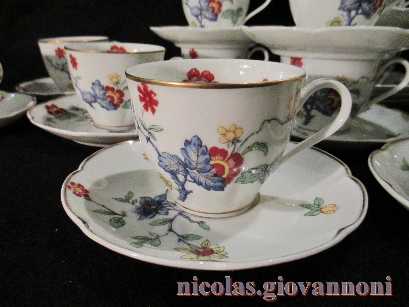 6 tasses caf compagnie des indes haviland porcelaine catalogue cristal de france. Black Bedroom Furniture Sets. Home Design Ideas